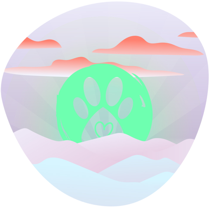 Pawsomely Healthy logo with clouds